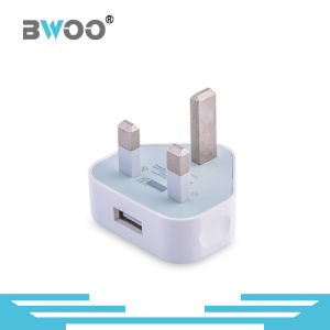 Wholesale 1 USB UK Plug Wall Charger for Smart Phone pictures & photos