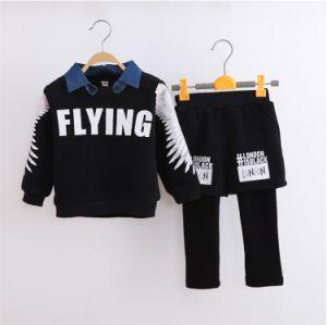 Ks1131 2015 Cotton Fleece Fashion Cool Boys Casual Sets Kids Clothes Winter Children′s Costumes Pullover T-Shirt +Pants 2PCS Set pictures & photos