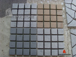 Granite Natural Paving Stone / Cobblestone with Mesh pictures & photos
