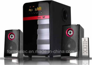2.1CH Wood Speaker with USB SD FM LED Subwoofer pictures & photos