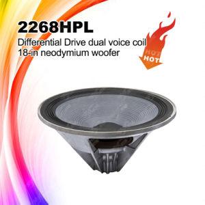 2268HPL 18in Dual Voice Coil Speaker, Neodymium Woofer pictures & photos
