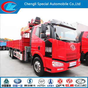 6X4 Faw Heavy Duty Truck with Crane for Sale pictures & photos
