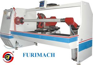 PLC Controlled /Servo Motor Adhesive Tape Roll Cutting Machine with CE Approved pictures & photos
