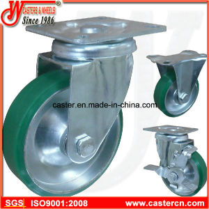 Japan Style Steel Core PU Swivel Caster Wheel pictures & photos