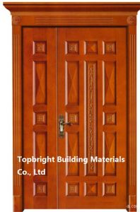 High Quality Hand Carved Wood Door pictures & photos