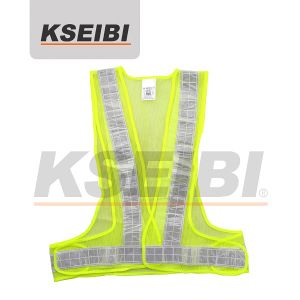 100% Polyester Mesh Safety Vest with PVC Reflectiv-Kseibi pictures & photos