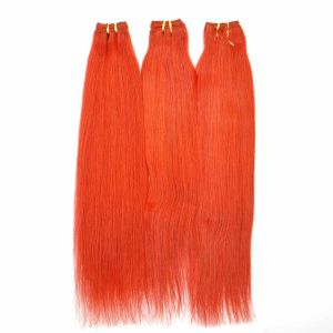 Fashion Hair Red Color Silk Straight Human Hair Weft pictures & photos