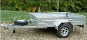 Hot Dipped Galvanized Caged Ramp Box Trailer pictures & photos