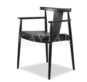 Simple Design Wood Frame Leather Upholstered Dining Chair (RA101)