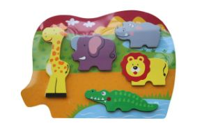Educational Wooden Chunky Puzzle Wooden Toys pictures & photos