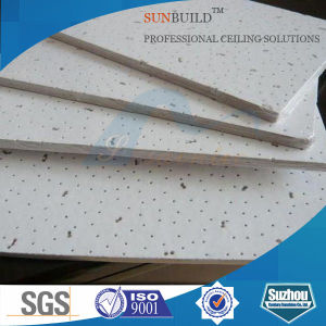 Mineral Fiber Drop Ceiling (595*595, 595*1195mm, 2′*2′, 2′*4′) pictures & photos