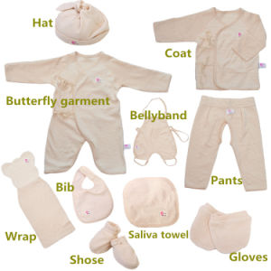 10PCS Organic Cotton Baby Clothes for Gift with Lovely Design Made in China pictures & photos