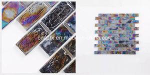 Black Glass Mosaic Strip Tiles