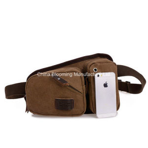 Mens Canvas Sport Running Fanny Bum Pack Waist Belt Bag pictures & photos