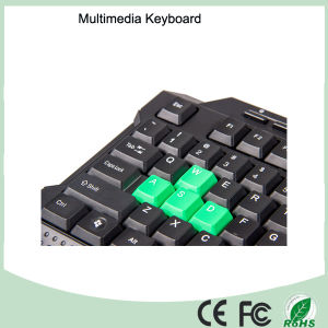 116 Keys Cheapest Wired Multimedia Keyboard Gaming (KB-1688M-G) pictures & photos