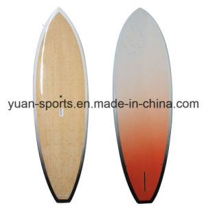 Customized Stand up Paddle 12, 6 Surfboard with Bamboo Veneer Surface pictures & photos