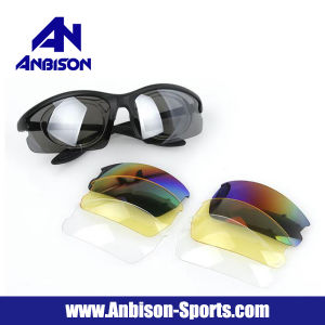 Outdoor Airsoft UV Protection Sunglasses Set with 4 Pair of Lens pictures & photos