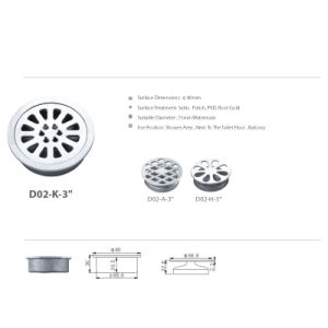 Stainless Steel Sanitary Accessories Round Basin Drainage (D02-K-3′′) pictures & photos