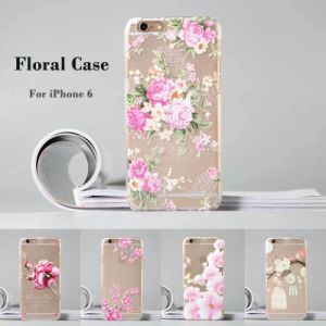 Flower Painted 3D Clear Transparent Case for iPhone 6