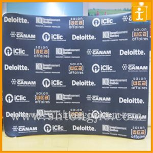 Curved Tension Fabric Tension Fabric Wall Display (TJ- 07) pictures & photos