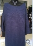 100% Cotton Pure Colour Knitted Sweater for Women/Ladies