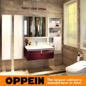 Oppein Europe Style Customized Wooden Bathroom Vanity Cabinet (OP15-202A) pictures & photos