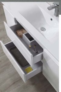 Europe Latest Wall Mounted MDF Bathroom Cabinet with Sink pictures & photos