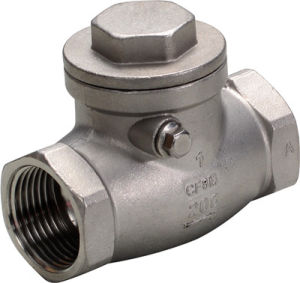 Stainless Steel Female Swing Check Valve pictures & photos