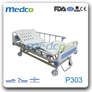 Electric Hospital Care Bed with Three Functions pictures & photos