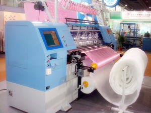 High Speed 64 Inches Shuttle Multi-Needle Quilting Machine for Blankets, Garments, Sleeping Bags pictures & photos