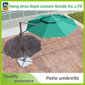 3m Cantilever Umbrella Market Garden Beach Outdoor Sunshade with Base pictures & photos