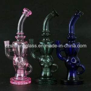 Multicolor Shining Glass Smoking Glass Water Pipe with Swiss Czs-36 pictures & photos