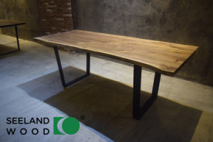 American Walnut Table Top with Steel Legs pictures & photos