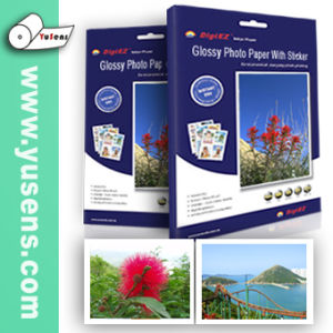 Cast Coated A4 Inkjet Glossy Photo Paper with Sticker pictures & photos