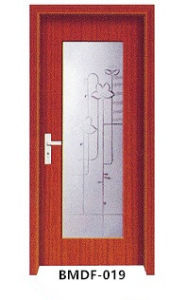 Chiese Style Bathroom Door with Pattern Glass pictures & photos