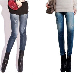 New Women′s Fashion Jeans Look Skinny Jeggings (85261) pictures & photos