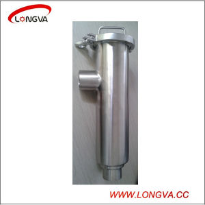 Sanitary Stainless Steel Pipe Fitting Butt Welded Angle Filter pictures & photos