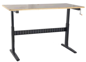 Handle Cranked Adjustable Height Office Desk (LDG-0202) pictures & photos
