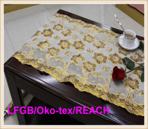 Vinyl Golden Lace Table Runner Rolls Factory pictures & photos