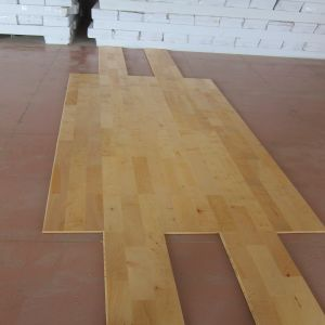 Anti-Slip Natural Maple Hardwood Flooring for Basketball pictures & photos