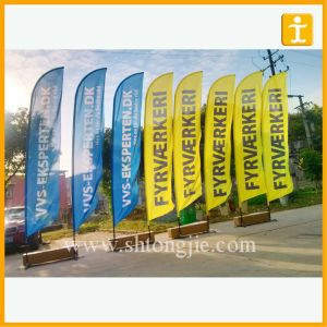 Wholesale Custom Polyester Fabric Flag, Teardrop Flag (TJ-26) pictures & photos