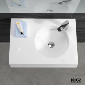 Bathroom Basin Artificial Marble Stone / Solid Surface Bathroom Wash Basin pictures & photos