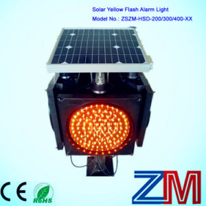 High Luminance Solar Powered Traffic Flashing Warning Light pictures & photos