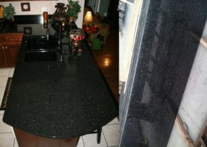 Black Galaxy Granite for Kitchentop/Table Top pictures & photos