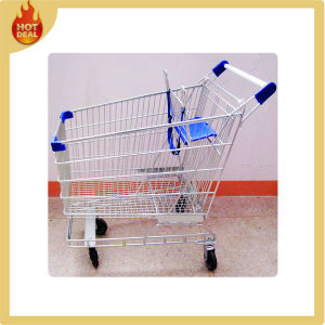 Steel 4 Wheel Shopping Trolley for Supermarket pictures & photos