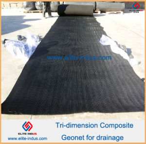 HDPE Geocomposite Geonet Drainage Net 200g/5.5mm/200g pictures & photos