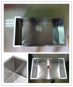 Single Bowl Handmade Sink, R10 Radius Customized Stainless Steel Sink Hmrs3218 pictures & photos