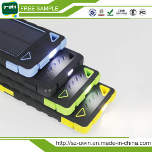 High Capacity 8000mAh Solar Power Bank Waterproof Power Bank pictures & photos