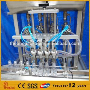 Shanghai Factory Electric Type Automatic Liquid Filling Machine, Bottle Filler Toalf250-4 pictures & photos