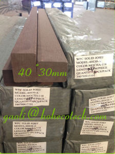 30mm Thick Solid Joist WPC Wood Plastic Composite Anti Stain Flooring Keel pictures & photos